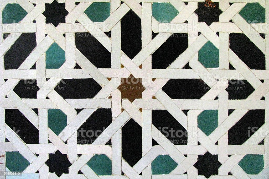Moorish mosaic background stock photo