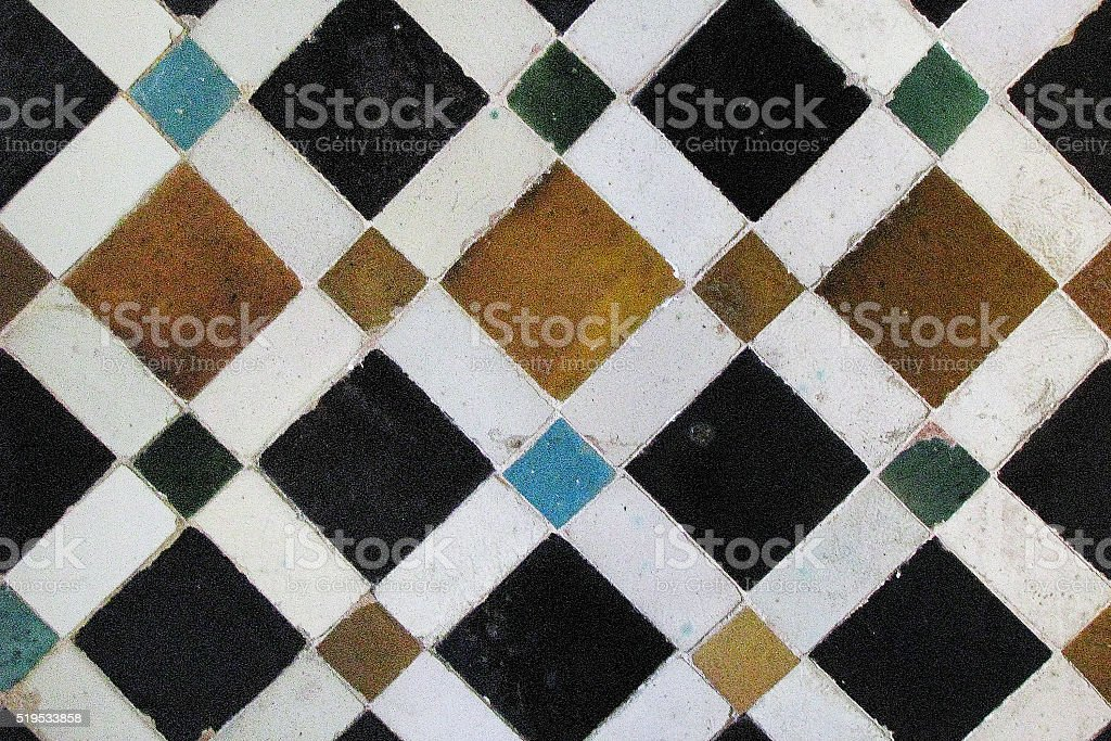 Moorish mosaic stock photo
