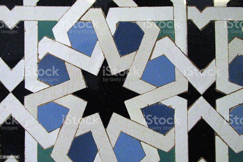 Moorish tile stock photo