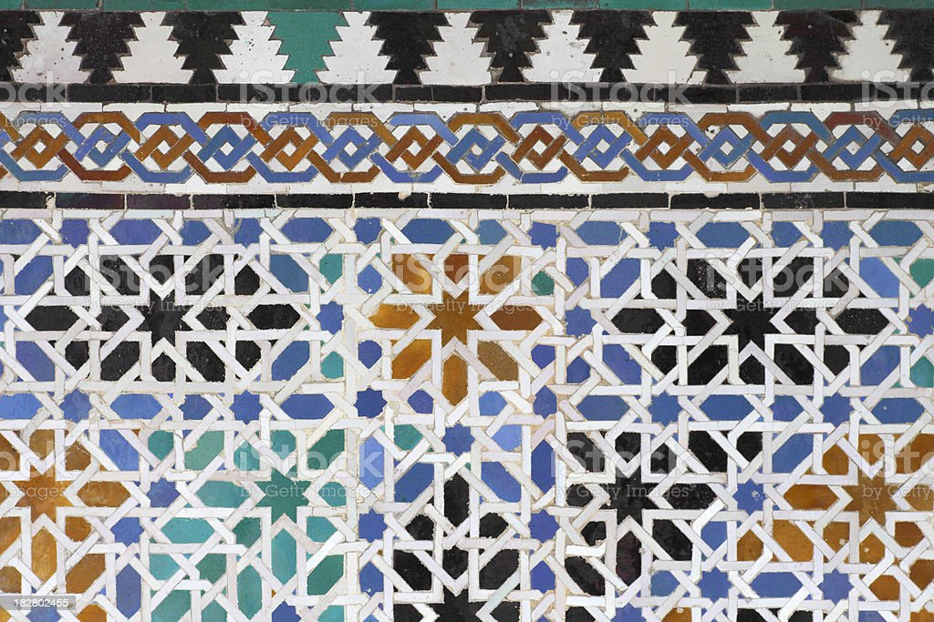 Moorish Tiles royalty-free stock photo