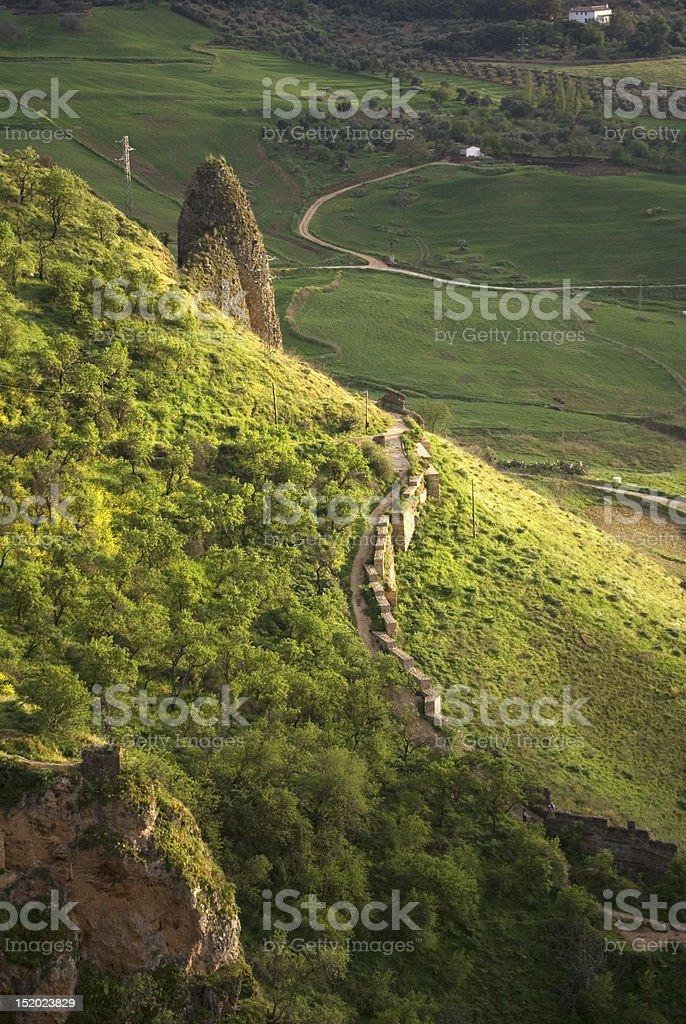Moorish wall of Ronda, Málaga (Spain). royalty-free stock photo