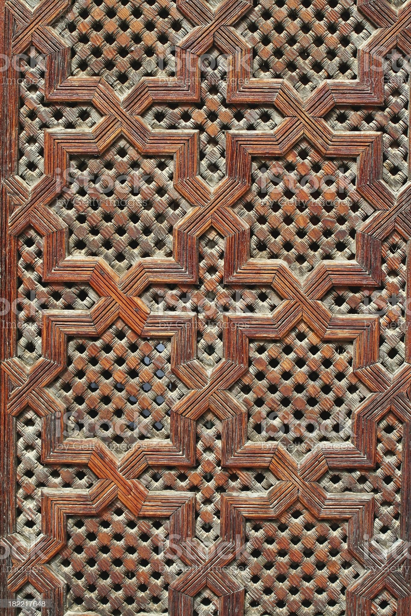 Moorish wooden panel royalty-free stock photo