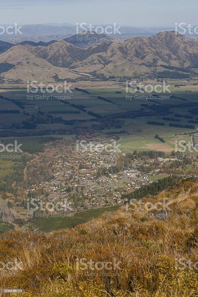 moorland above Hanmer Springs stock photo