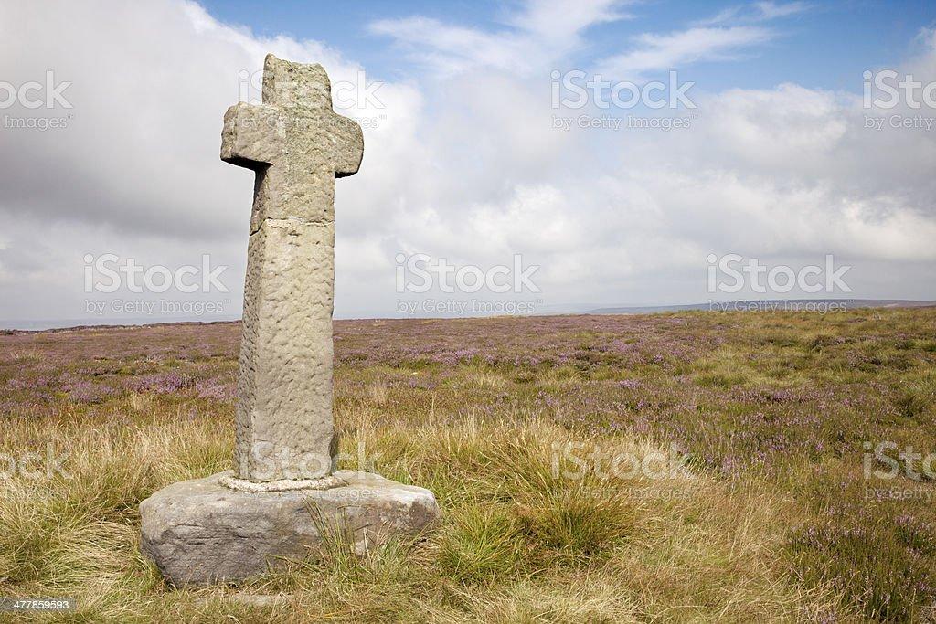 Moorland Cross royalty-free stock photo