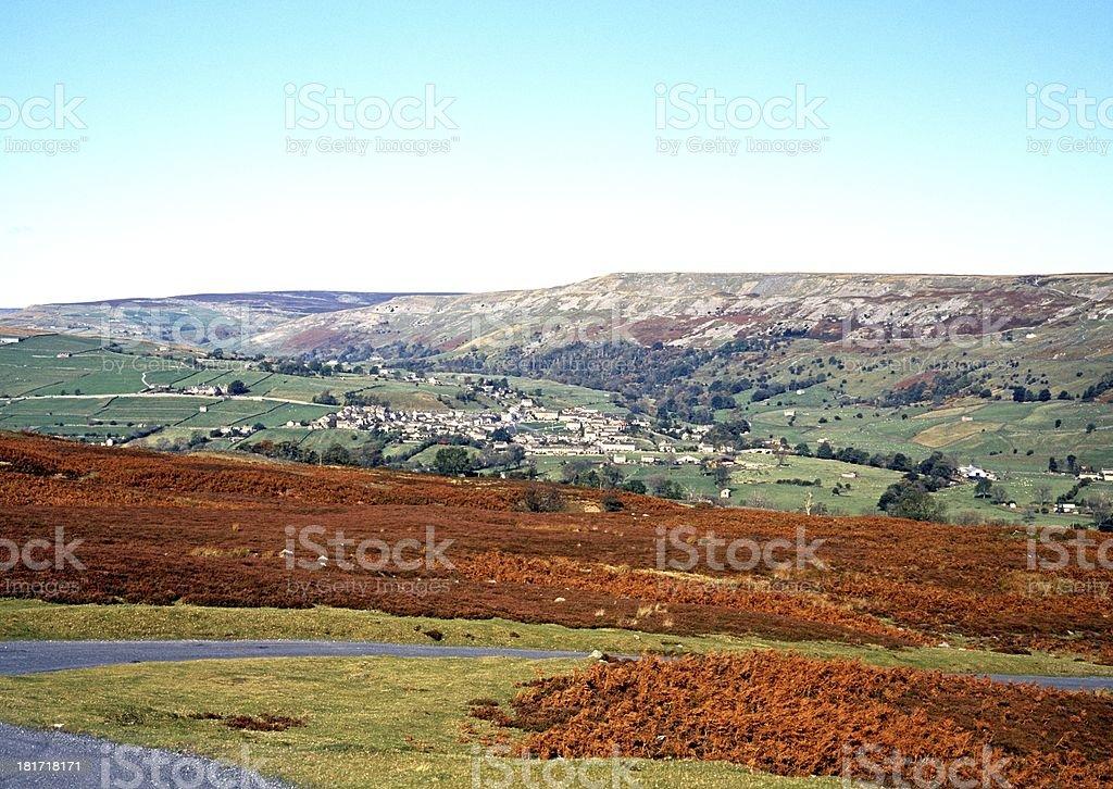 Moorland, Yorkshire Dales, England. royalty-free stock photo