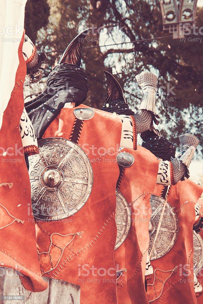 Moors and Christians festival Alcoy, Spain stock photo