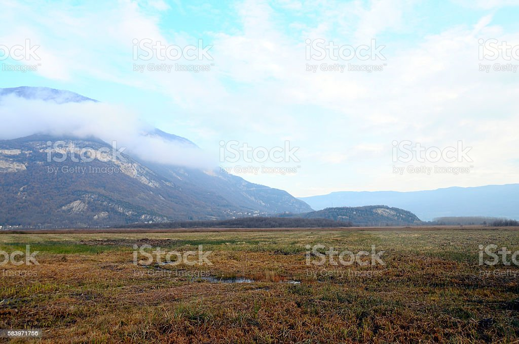 Moors and marsh in Savoy, France stock photo