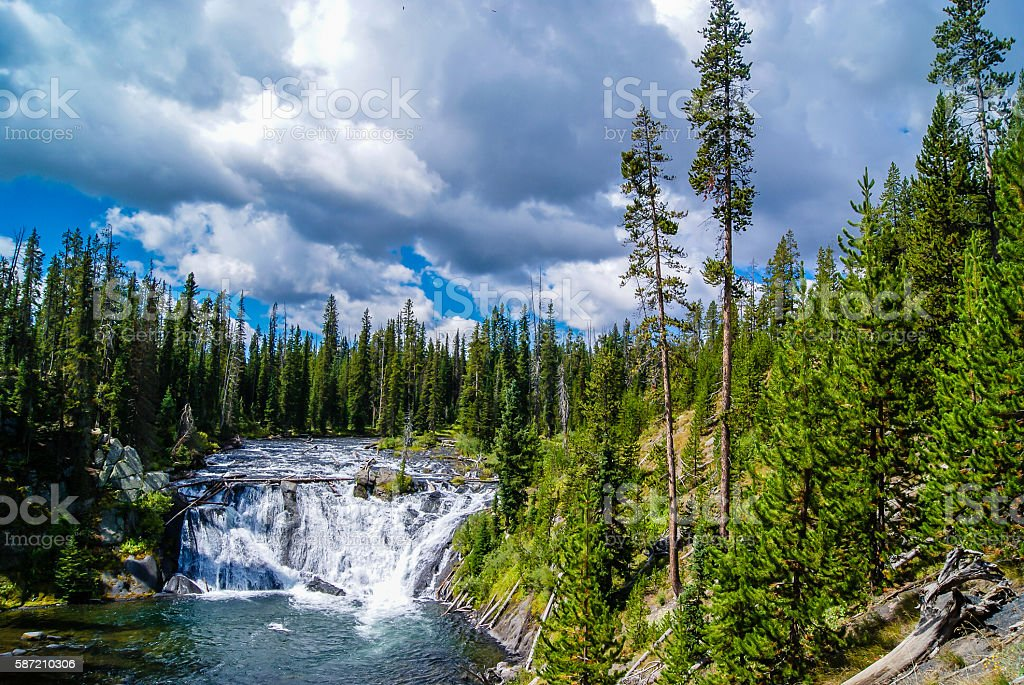 Moose Falls, Yellowstone National Park stock photo