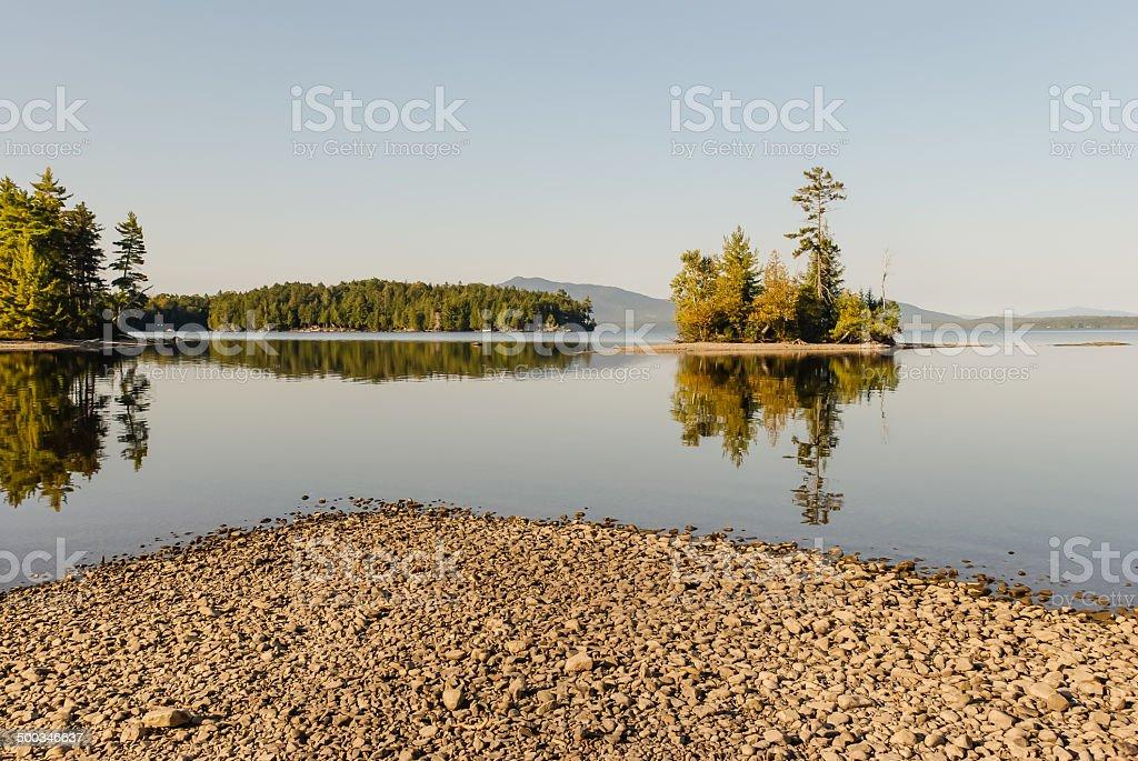 Moosehead Lake Maine stock photo