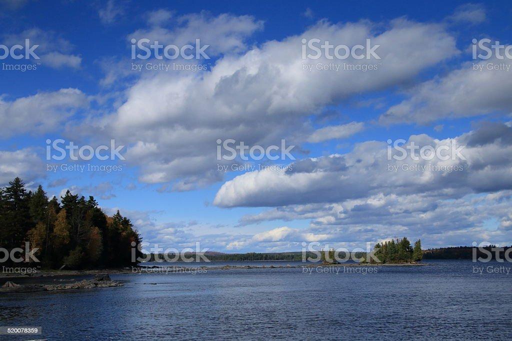 Moosehead Lake, Maine stock photo