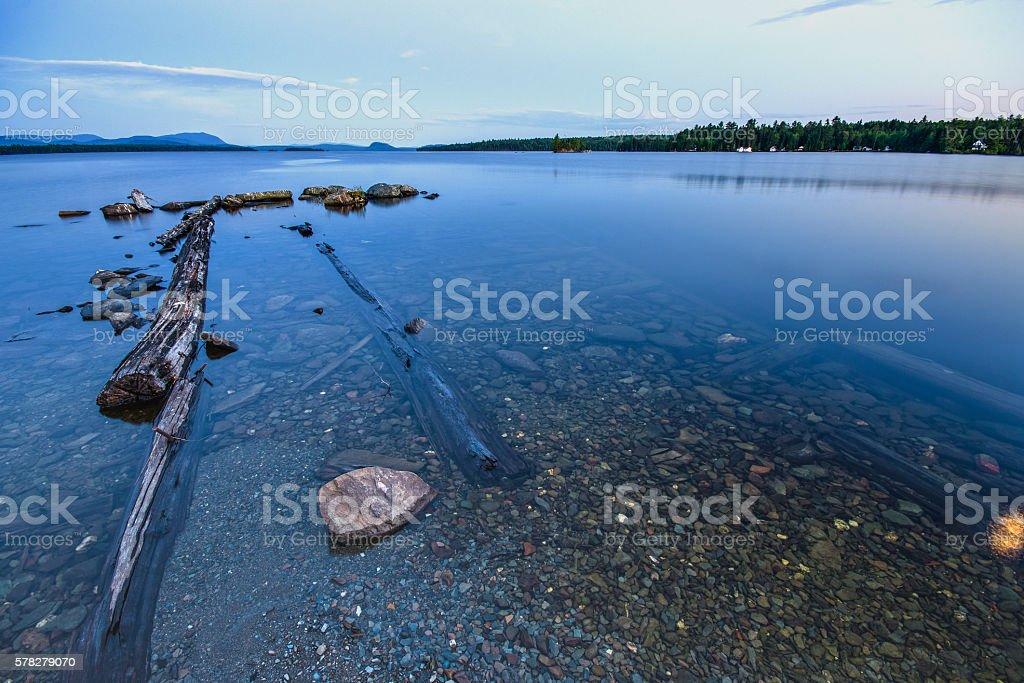 Moosehead Point Underwater Rocks stock photo
