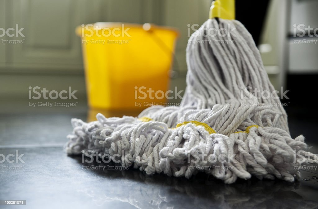 mop and bucket royalty-free stock photo