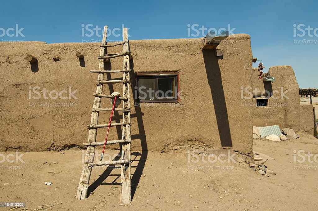 Mop and ladder stock photo