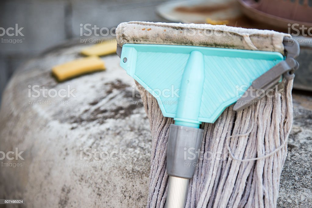 mop close up stock photo