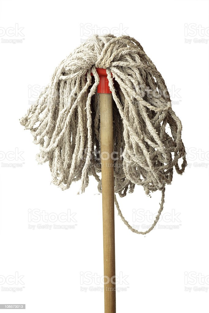 Mop Isolated on White Background royalty-free stock photo
