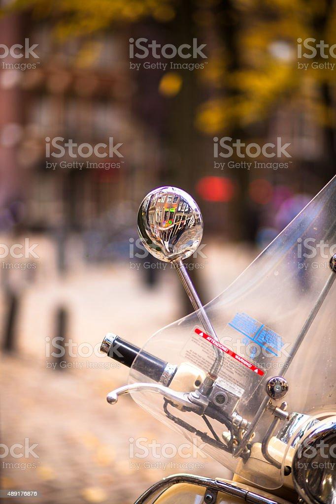 Moped on Amsterdam Street stock photo