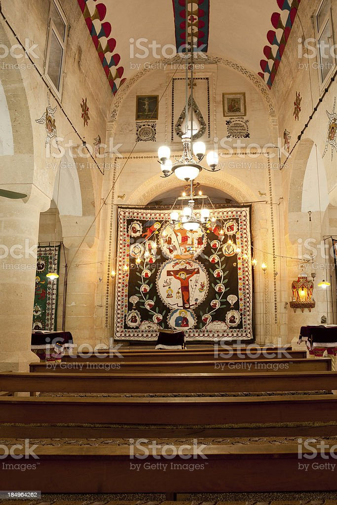 Mor Barsaumo Syriac Orthodox Church in Midyat stock photo