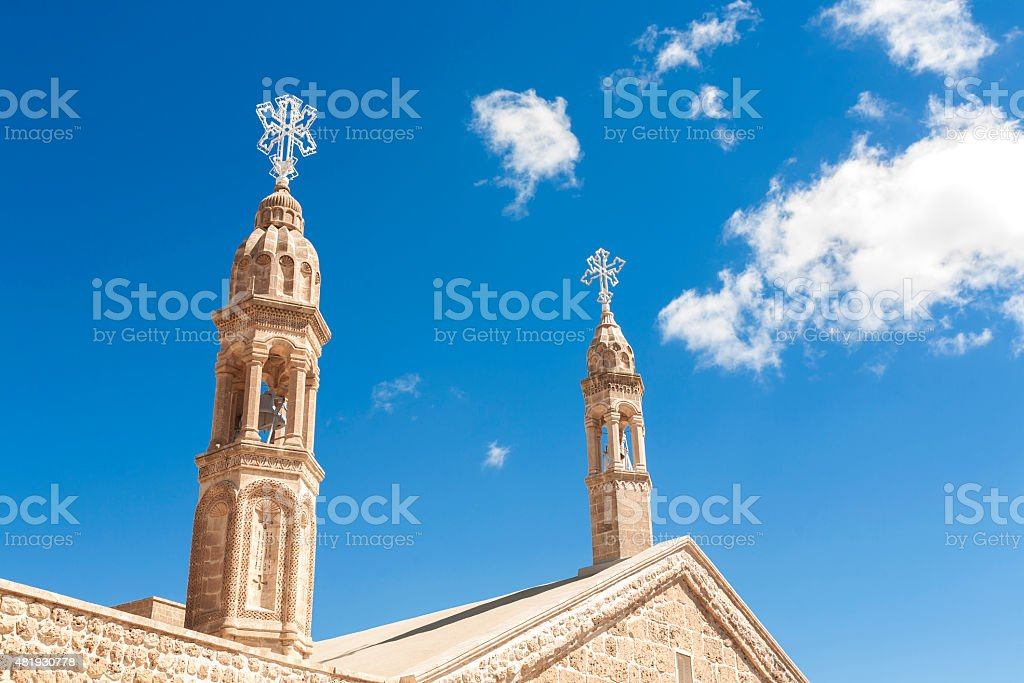 Mor Gabriel church stock photo