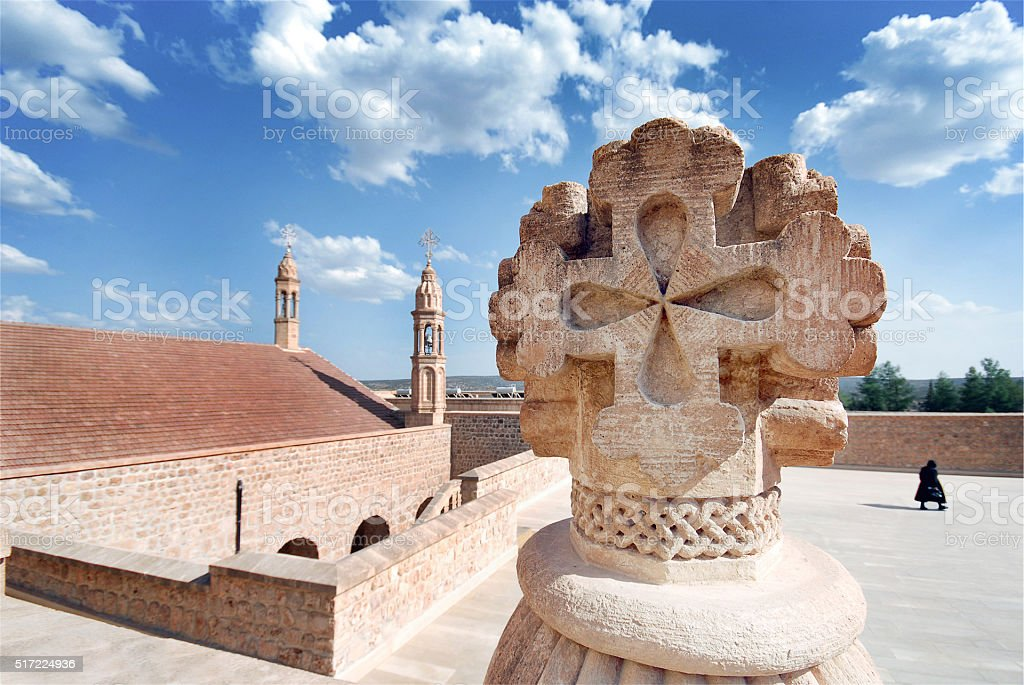 Mor Gabriel Monastery in Midyat - Mardin stock photo