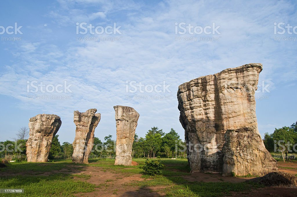 Mor Hin Khao Chaiyaphum Stone Henge of Thailand royalty-free stock photo