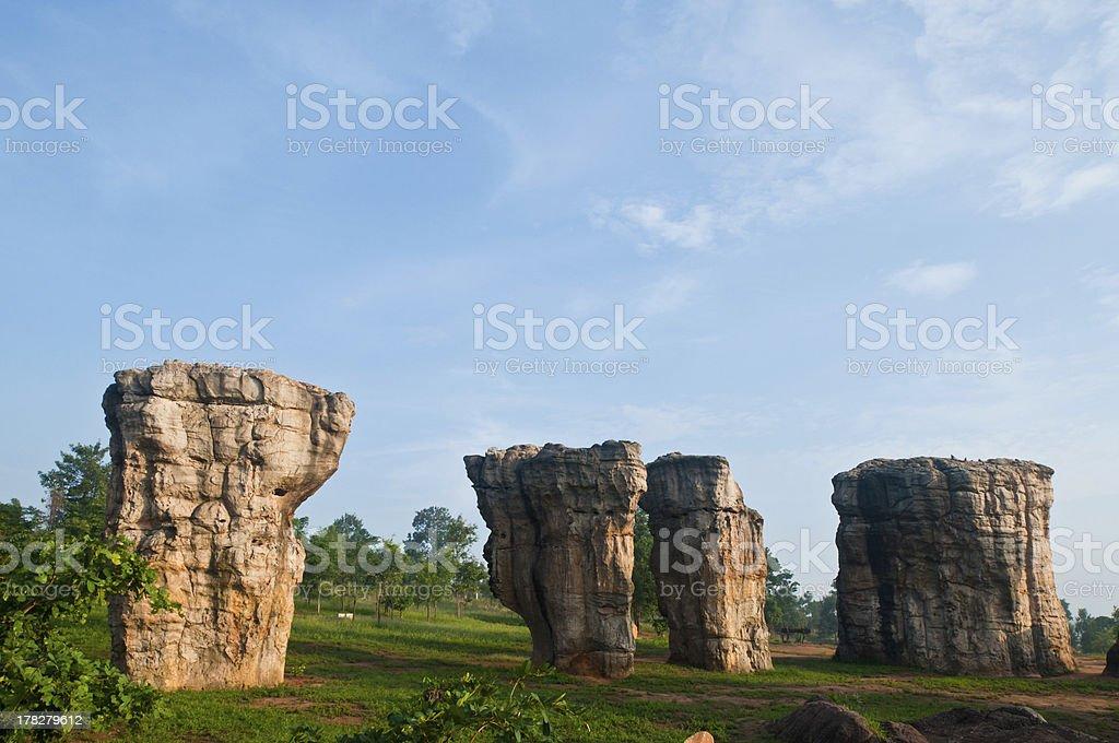 Mor Hin Khao Chaiyaphum Stonehenge of Thailand royalty-free stock photo