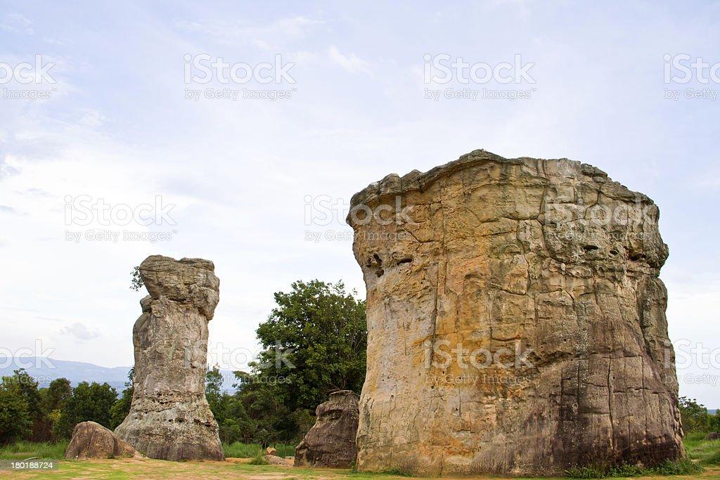Mor Hin Khao, Stone Henge of Thailand royalty-free stock photo