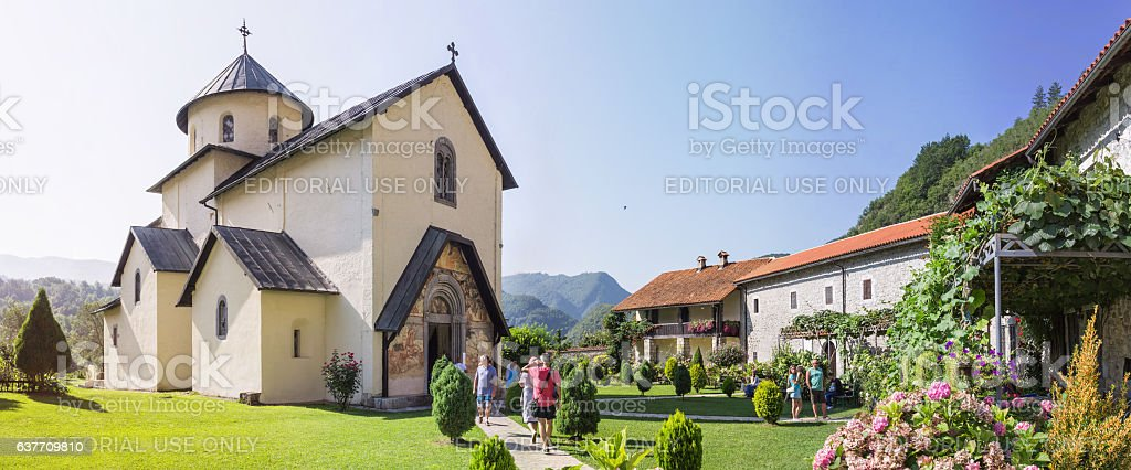 Moraca Monastery located in the valley of the Moraca River stock photo