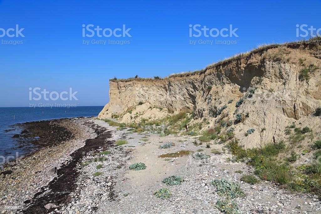 Moraine cliff stock photo