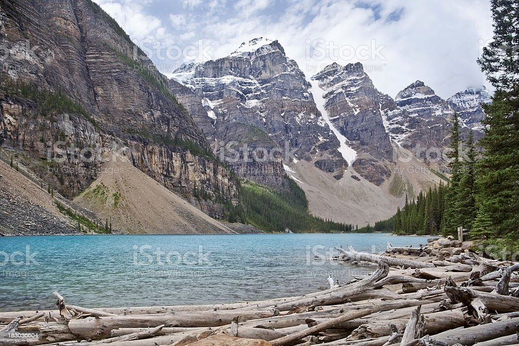 Moraine Lake, Alberta royalty-free stock photo