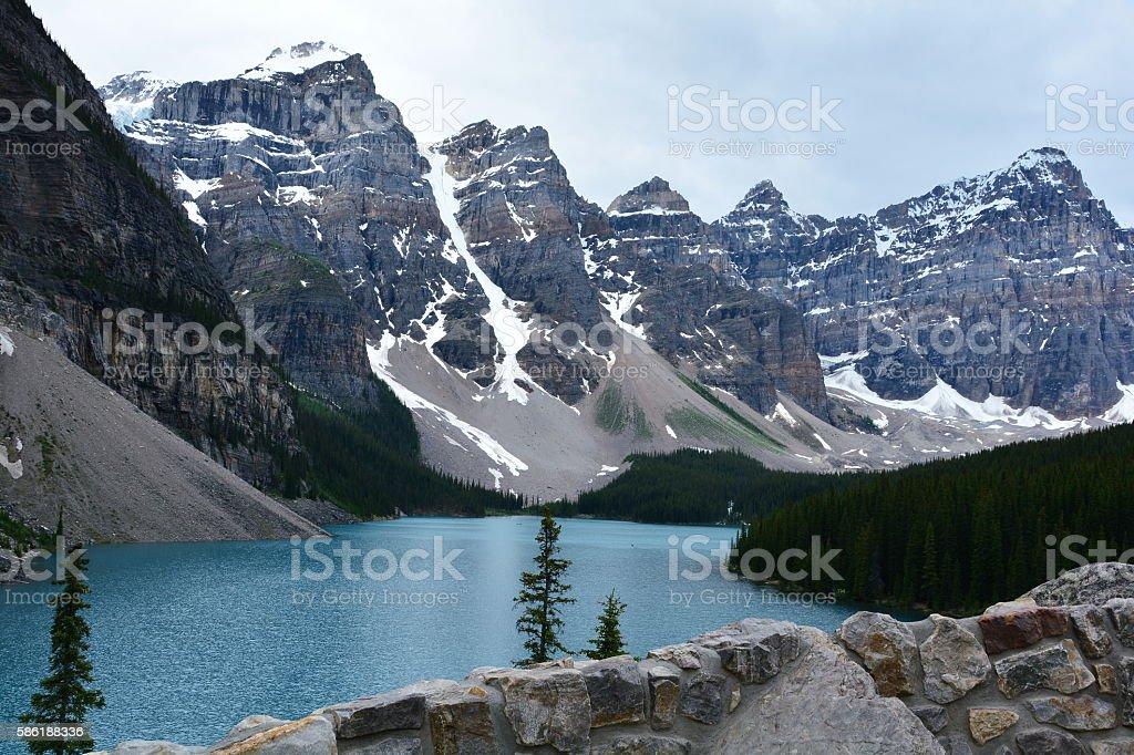 Moraine Lake, Banff Alberta stock photo