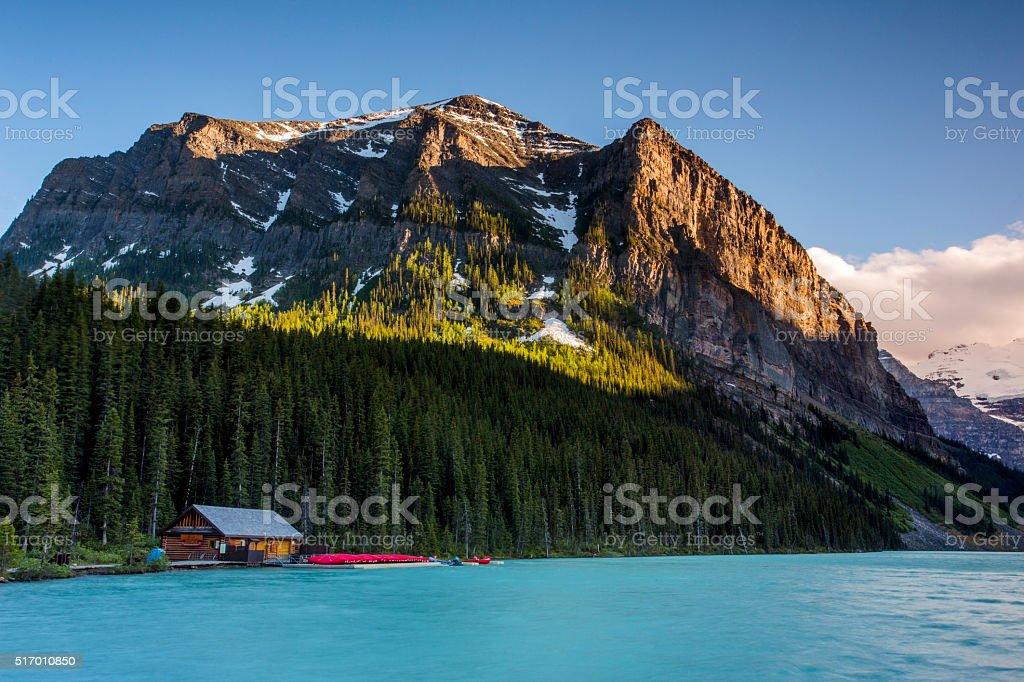 Moraine Lake, Banff Canada stock photo