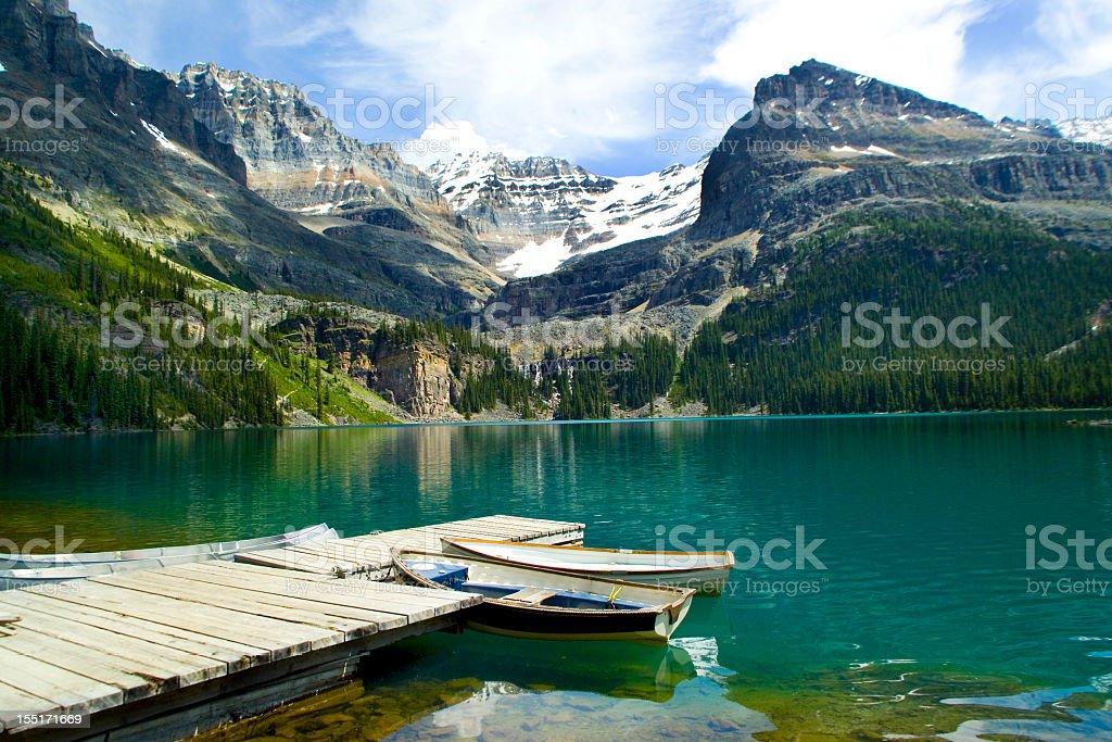 Moraine Lake, Banff National Park, Canada stock photo