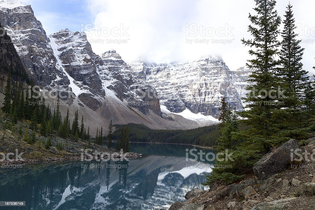 Moraine Lake, Banff National Park royalty-free stock photo