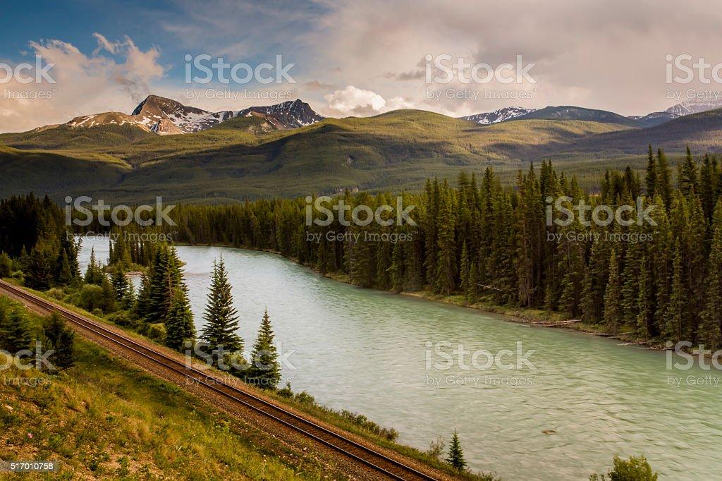 Moraine Lake, Banff stock photo