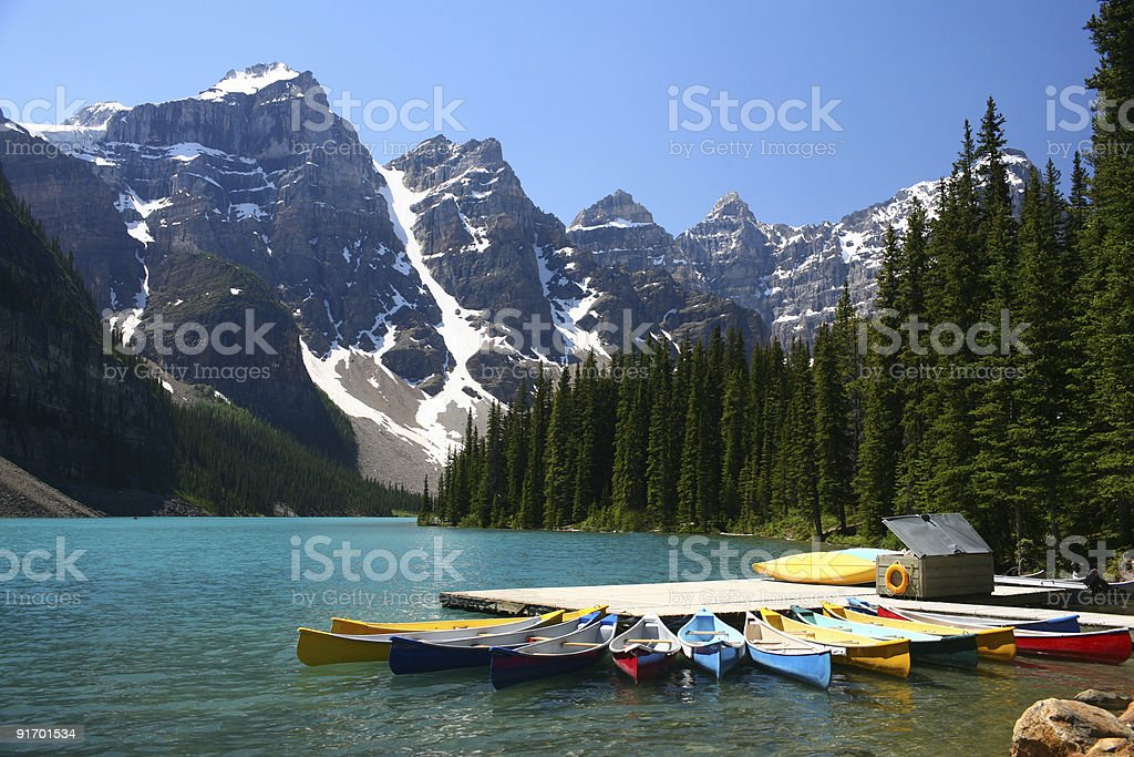 Moraine lake, Canada stock photo