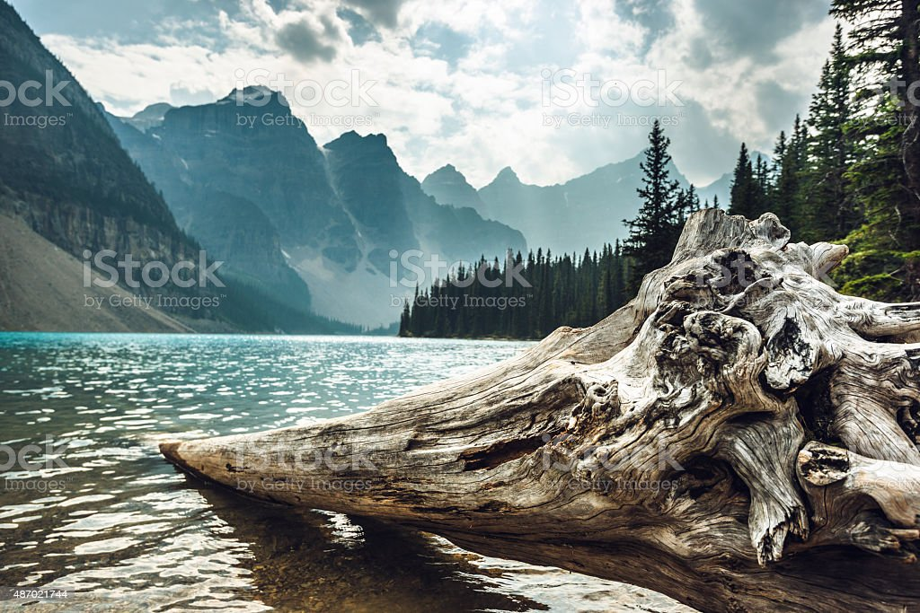 Moraine Lake in Banff National Park - Canada royalty-free stock photo
