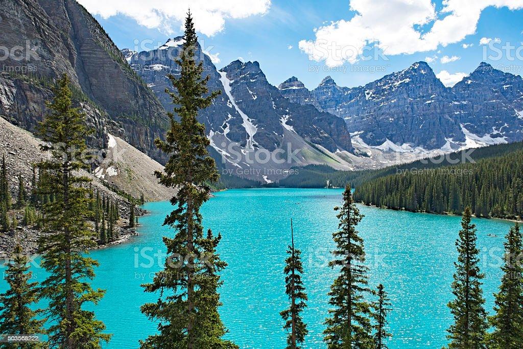 Moraine Lake in Banff National Park,Alberta,Canada stock photo