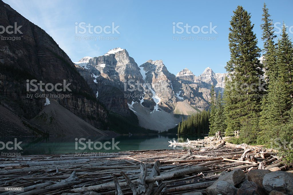 Moraine Lake in Canadian Rockies royalty-free stock photo