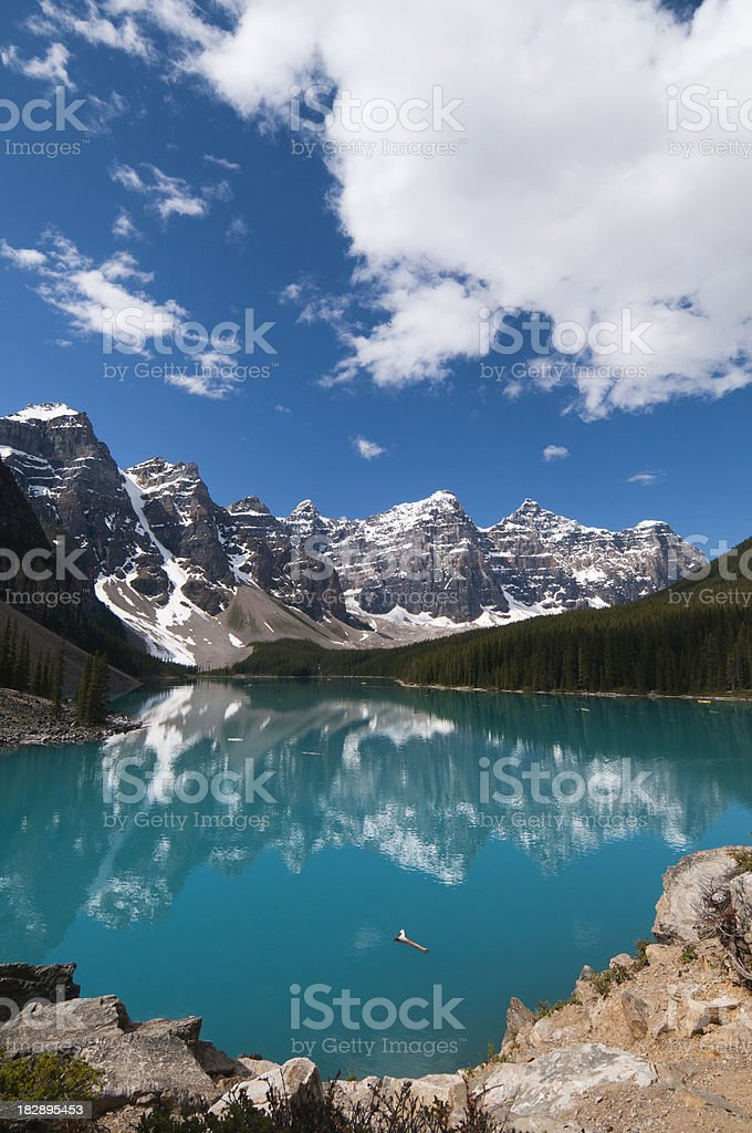 Moraine Lake in summer royalty-free stock photo