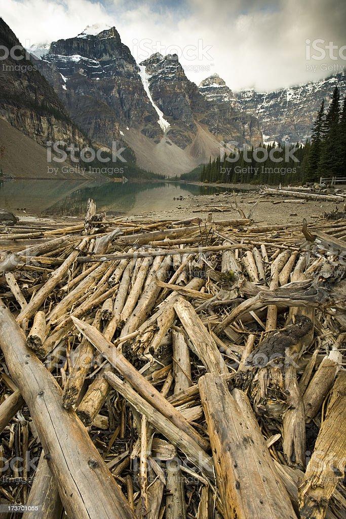 Moraine Lake royalty-free stock photo
