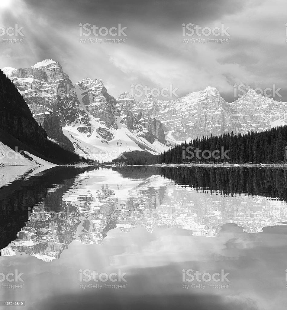 Moraine lake. royalty-free stock photo