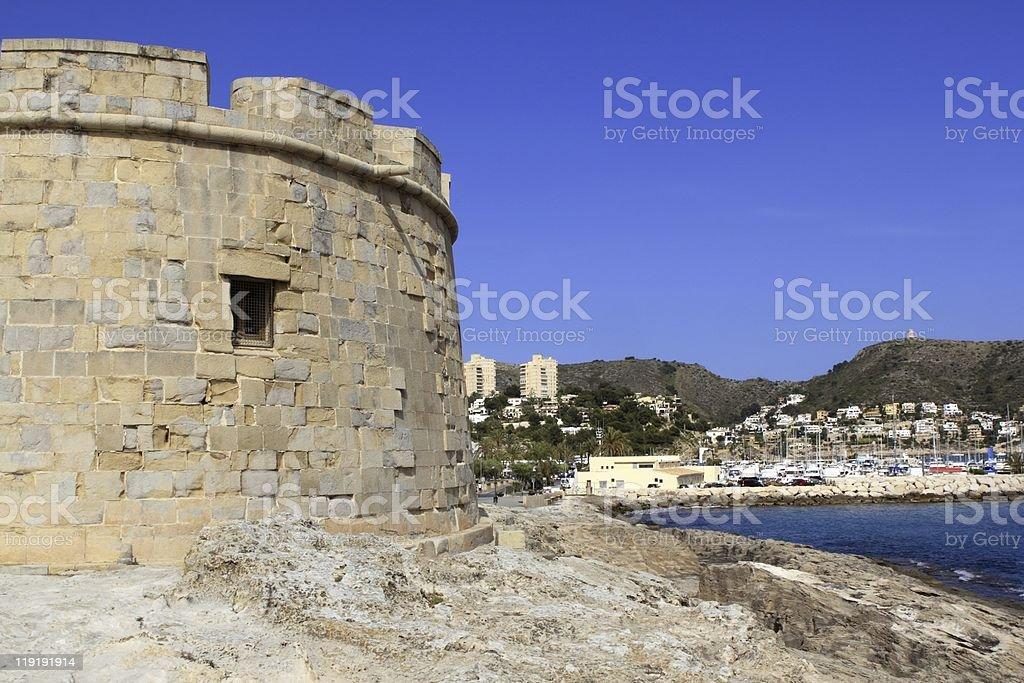 Moraira Teulada Alicante Castle Mediterranean royalty-free stock photo