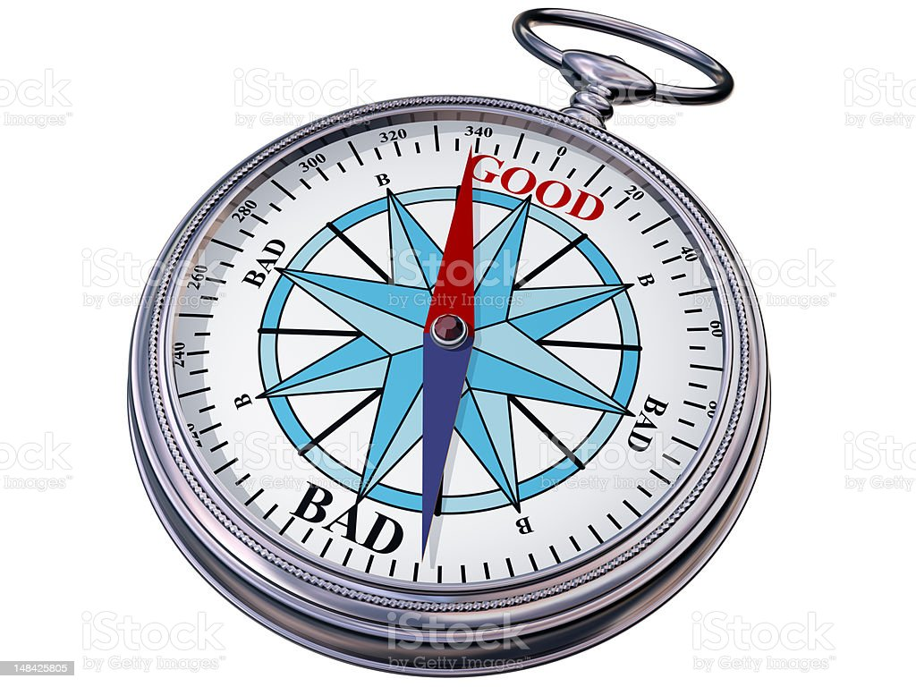 Moral compass stock photo