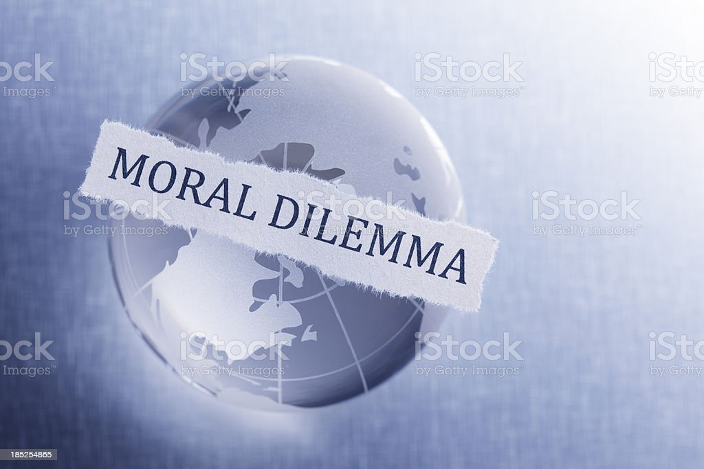 Moral Dilemma royalty-free stock photo