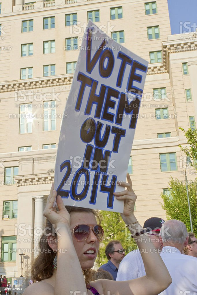 Moral Monday Vote Them Out in 2014 Sign royalty-free stock photo