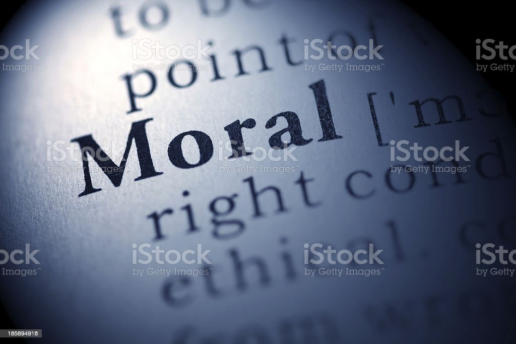 Moral royalty-free stock photo