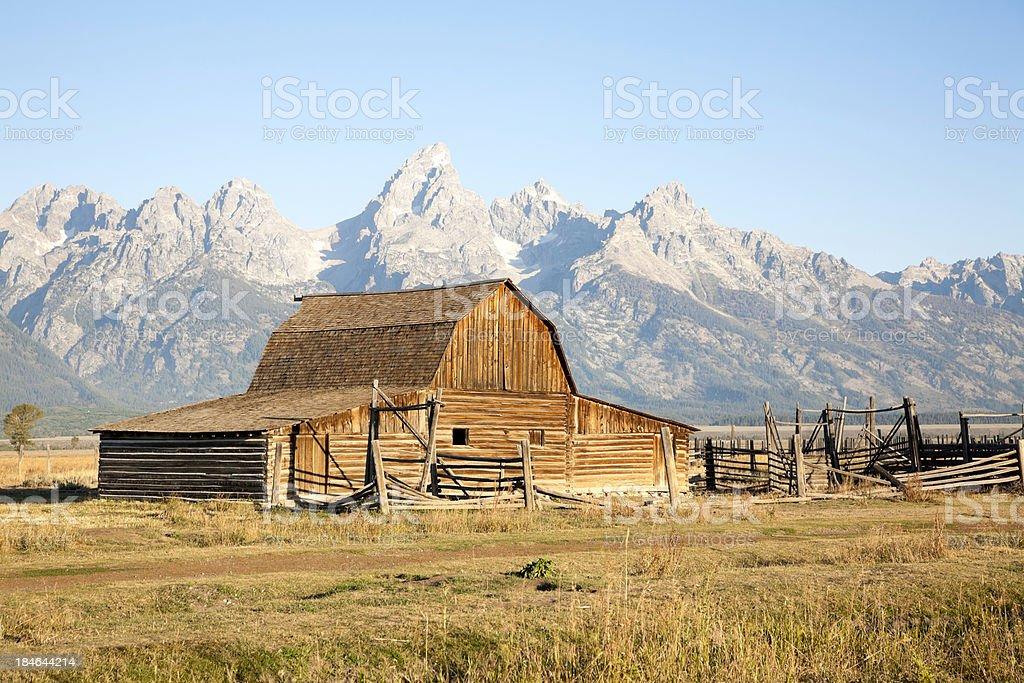Moran Barn At Sunrise royalty-free stock photo
