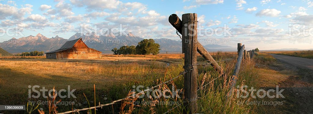 Moran Barn Panoramic stock photo