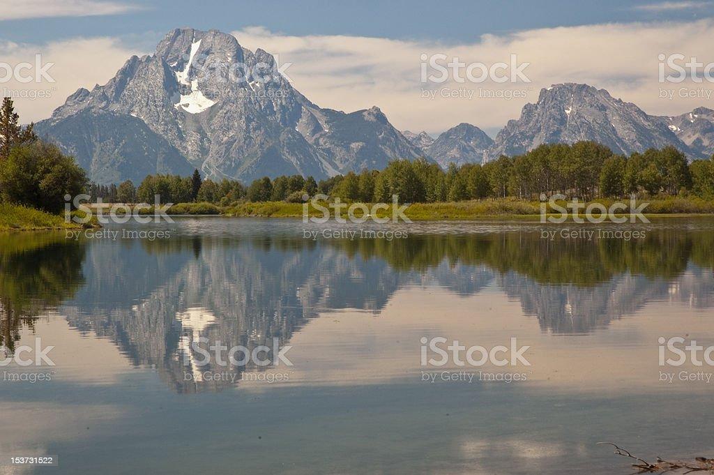 Moran Junction Reflection royalty-free stock photo