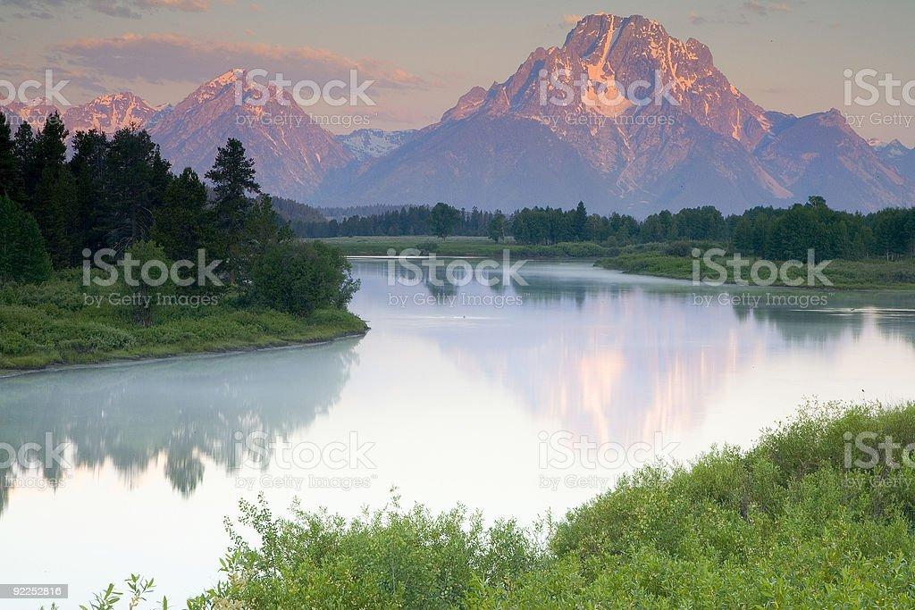 Moran reflection stock photo